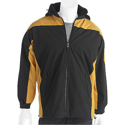 Big Men's Water Resistant Reversible Jacket with Removable Hood