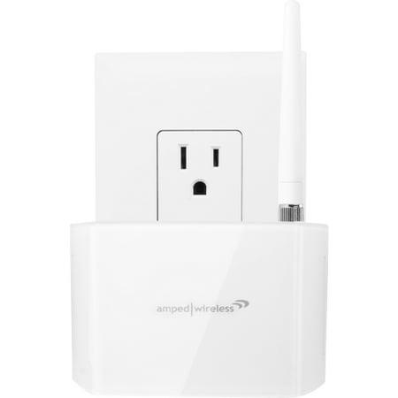 Wireless 300n Range Extender - Amped Wireless High Power 600mW Compact Wi-Fi Range Extender, REC10