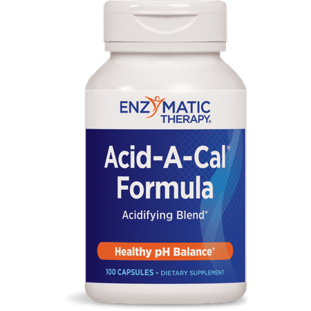 Enzymatic Therapy Acid-A-Cal Formula Healthy pH Balance 100 Capsules