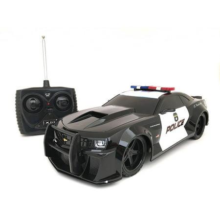 Xq Tri Band Remote Control 118 Scale Chevrolet Camaro Rc Police Car