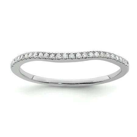 925 Sterling Silver Rhodium Plated Diamond Wrap Ring - image 2 de 2