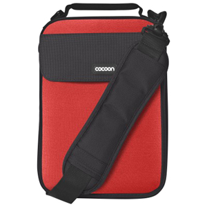 "Cocoon CNS343RD Carrying Case (Sleeve) for 10.2"" Netbook - Racing Red - Neoprene, Ballistic Nylon - 11.4"" Height x 1.6"" Width x 8.3"" Depth FITS UP TO 10IN NETBOOK"