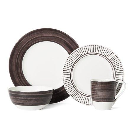 - Mikasa  Cadence Walnut Porcelain 4-piece Place Setting