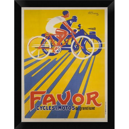 East Urban Home Favor Cycles Et Motos 1927 Framed Graphic Art Print