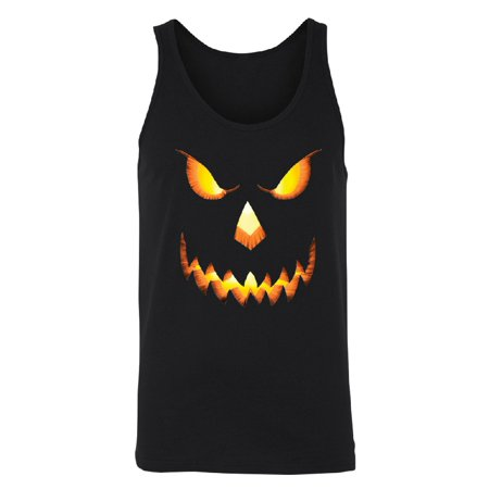 Jack O Lantern Face Men's Tank Top Funny Halloween 2017 Shirts Black Small (Halloween Nj 2017)