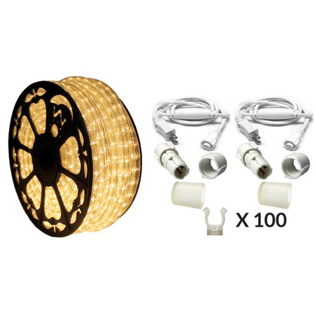 120v dimmable led warm white 513pro series rope light 150ft premium kit. Black Bedroom Furniture Sets. Home Design Ideas