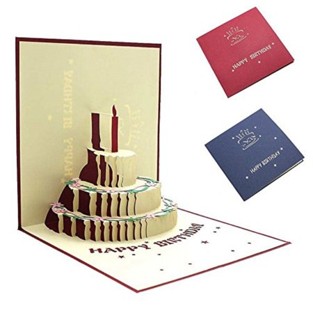 Black Friday Deals Cyber Monday Deals-ValentoriaGreetingCards,3D Pop Up I Love Mom Handmade Luck Best Wish Greeting Card