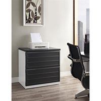 Ameriwood Home Pursuit Lateral File Cabinet, White/Gray