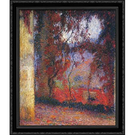 The Terrace 28x32 Large Black Ornate Wood Framed Canvas Art by Henri Martin