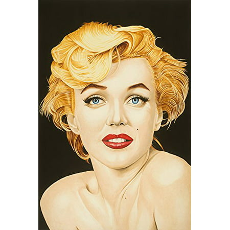 Canvas Marilyn By Karl Black 36X24 Giclee Edition Art Gallery Wrap Wall Decor Marilyn Monroe Poster Natural Beauty Red Lipstick Sexy Some Like It Hot