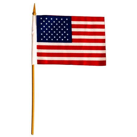 Loftus Patriotic Stars And Stripes 6  Flag  Red White Blue  6 Pack