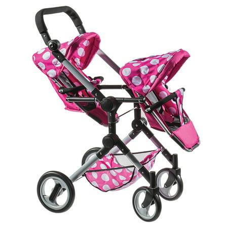 Lissi Dolls - Twin Doll Stroller](Double Baby Doll Stroller)