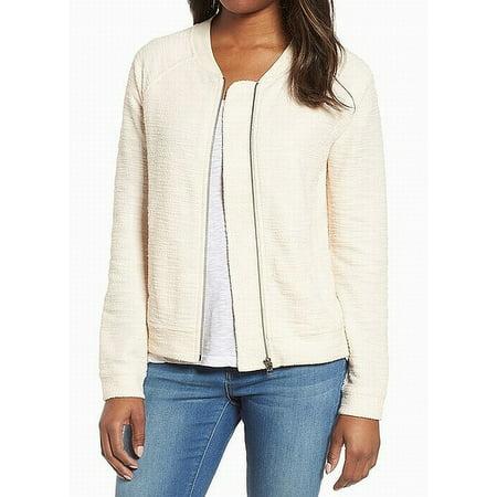 Caslon Women Medium Petite Full Zip Knit Bomber Jacket