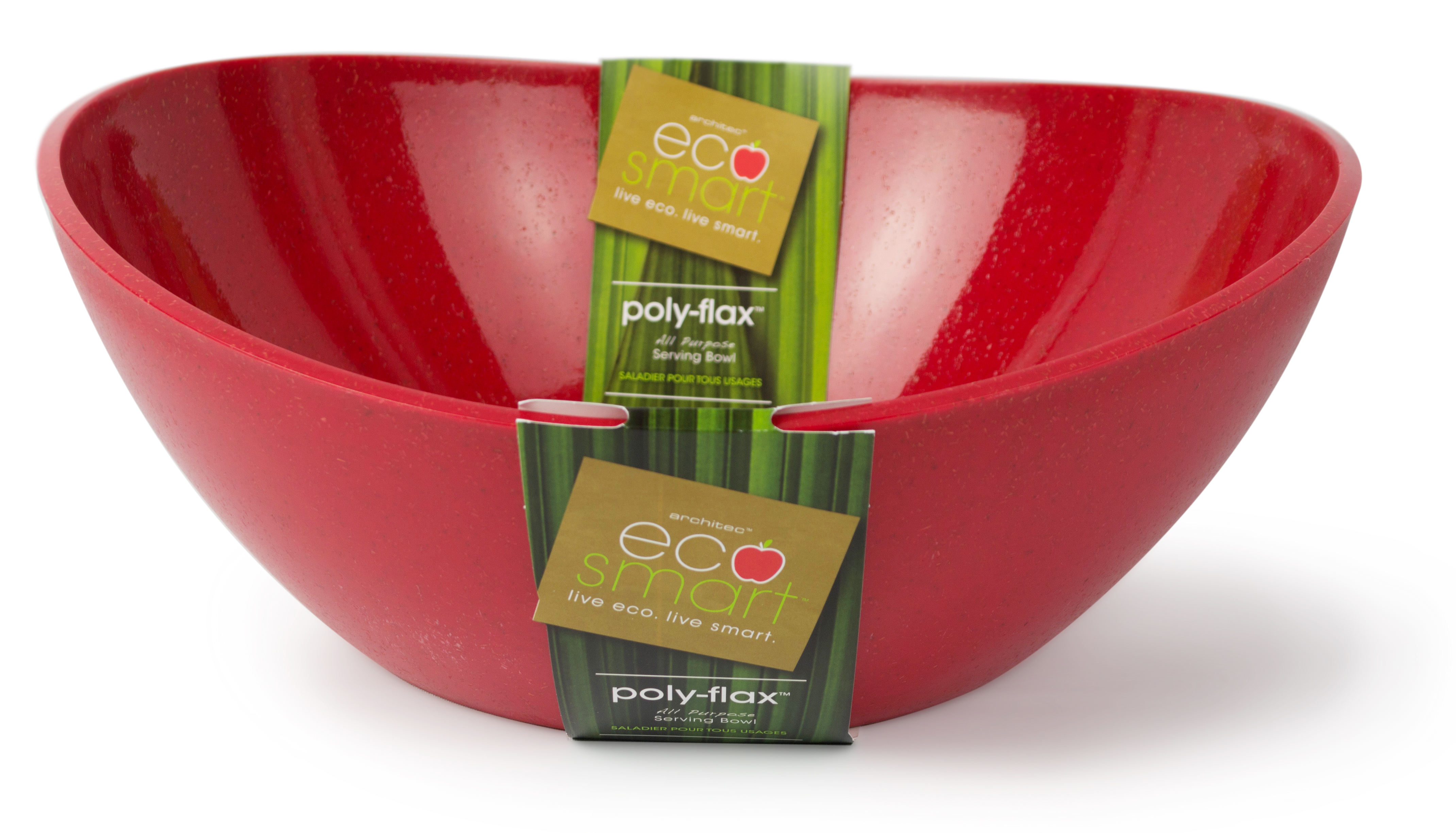 EcoSmart by Architec Polyflax Serving Bowl Party Size, Red by Architec