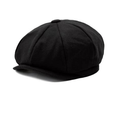 Retro Herringbone Gatsby Cap Hat Mens Country Flat 9 Panel Baker Boy Newsboy Hat