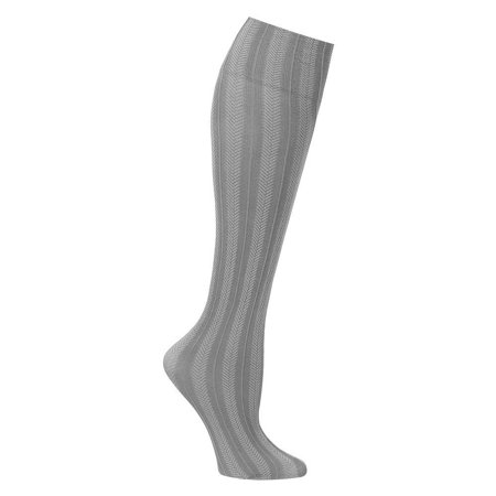 Women's Wide Calf Solid And Patterned Trouser Socks Set Of 3 - Grey, Get the professional style and fit you deserve with these wide trouser socks By SUPPORT PLUS ()