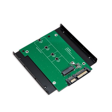 Drive Adapter Board - Syba M.2 NGFF SSD to High Speed SATA III 6gb/s Board Adapter with 3.5