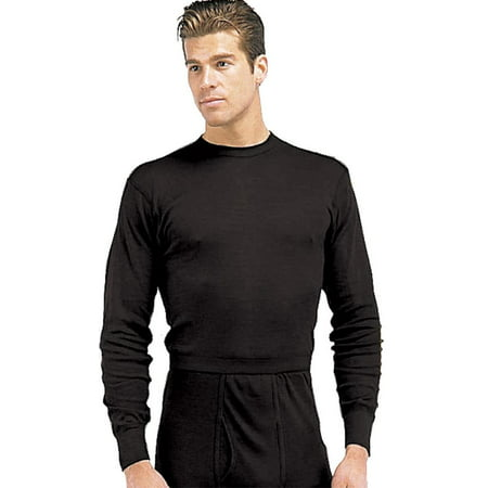 Black Poly Thermal Long Underwear Tops,