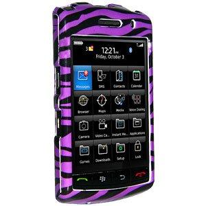 Premium Zebra Print Purple Snap On Hard Shell Case for BlackBerry Storm 9530