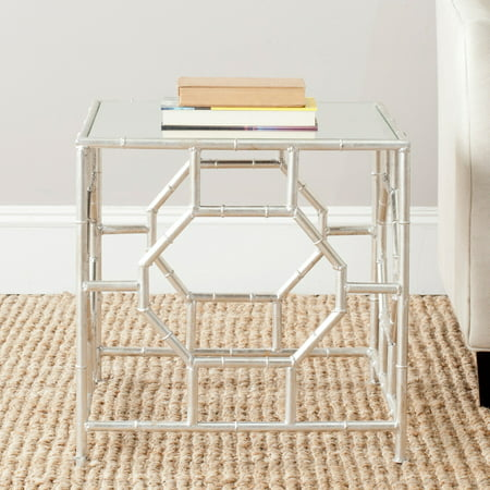 Safavieh Rory Glam Mirror Top Accent Table, Silver