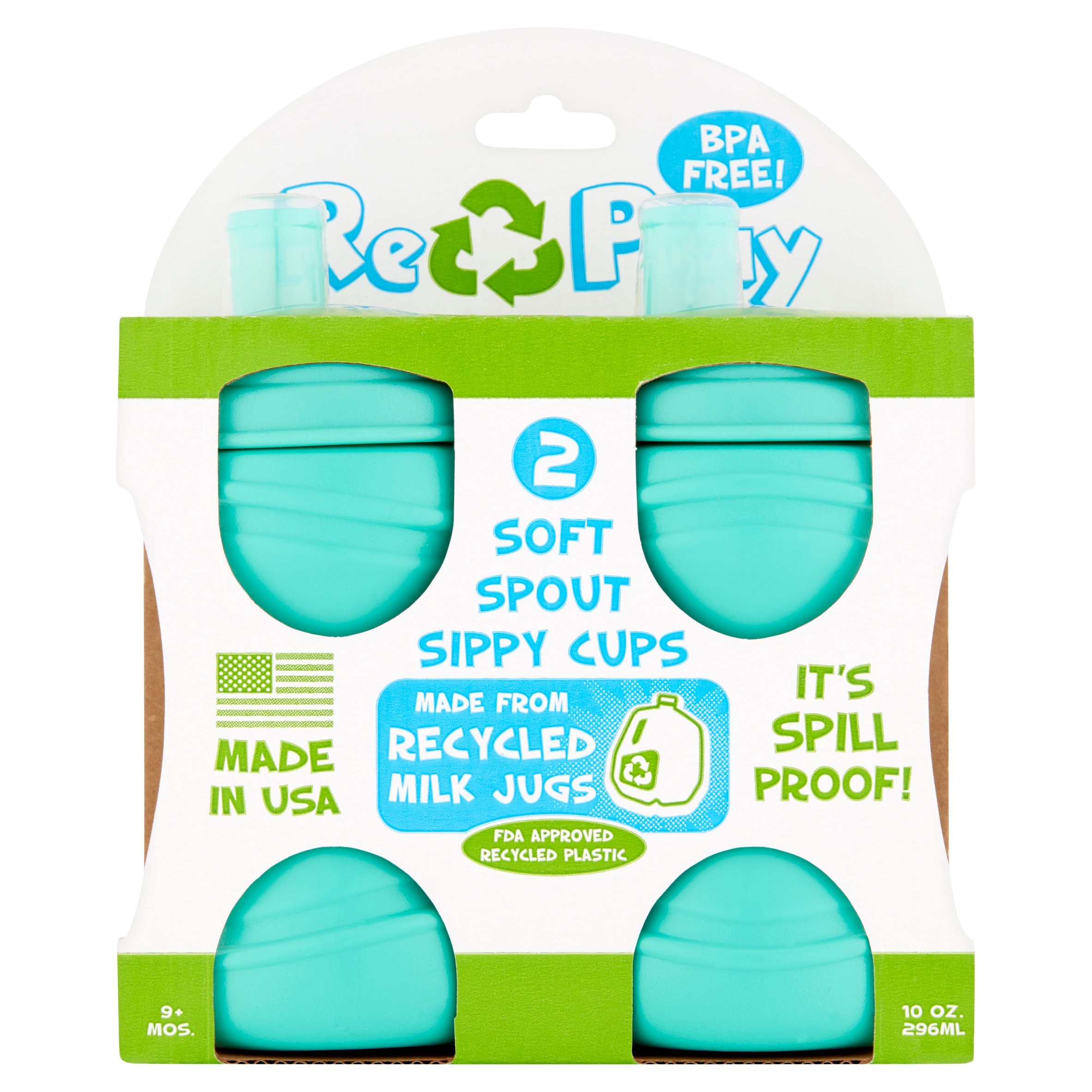 Re-Play 2-Pack Soft Spout Cups, BPA-Free by Re-Think It, Inc.