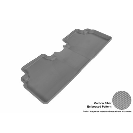 - 3D MAXpider 2006-2011 Honda Civic Sedan Second Row All Weather Floor Liner in Gray with Carbon Fiber Look