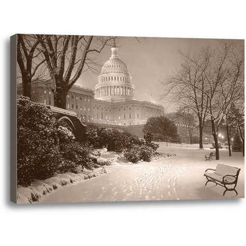 Ashton Wall D cor LLC Evening on the Hill by Rod Chase Photographic Print on Wrapped Canvas
