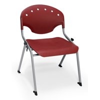 OFM 305-16-P17 Rico Student Stack Chair, Burgundy