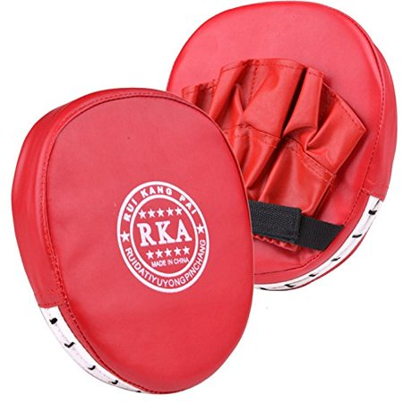 Generic Punch - Boxing Mitt Training Target Focus Punch Pad Glove MMA Karate Muay Kick Kit, Color: Red By Generic