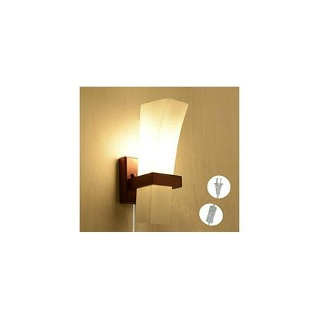 kiven led ceramics lampshade solid wood wall lamp, bedroom bedside ...