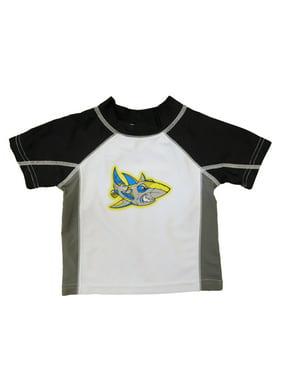Infant & Toddler Boys Robot Shark Rash Guard Swim Shirt