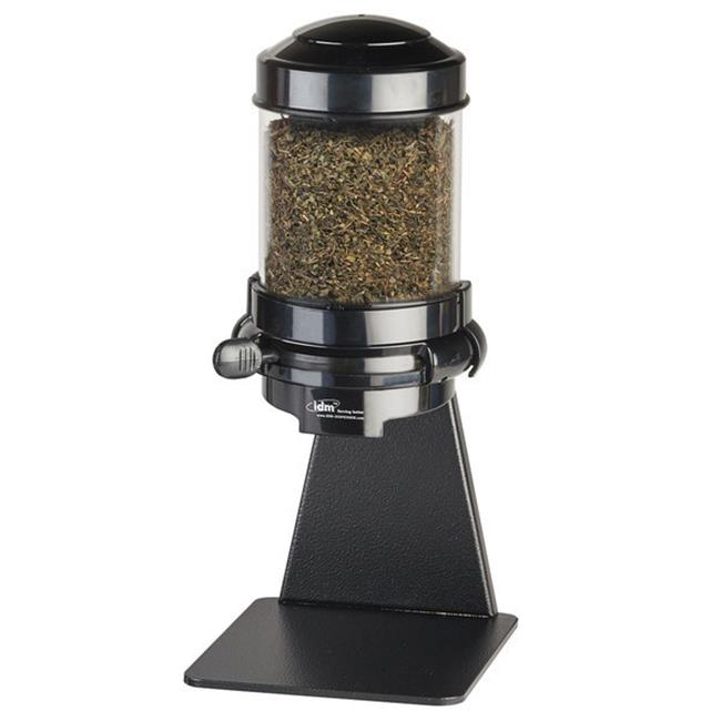 Cal Mil 3524-1-13 1.5L Single Freestanding Portion Control Topping Dispenser - Black - image 1 of 1