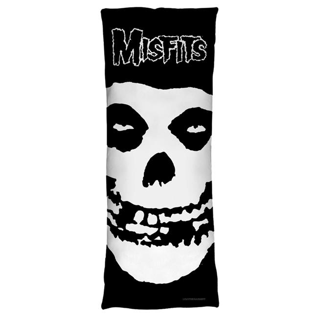 Trevco BAND150-PLO7-18x54 Misfits & Fiend Skull-Microfiber Body Pillow, White - 18 x 54 in.