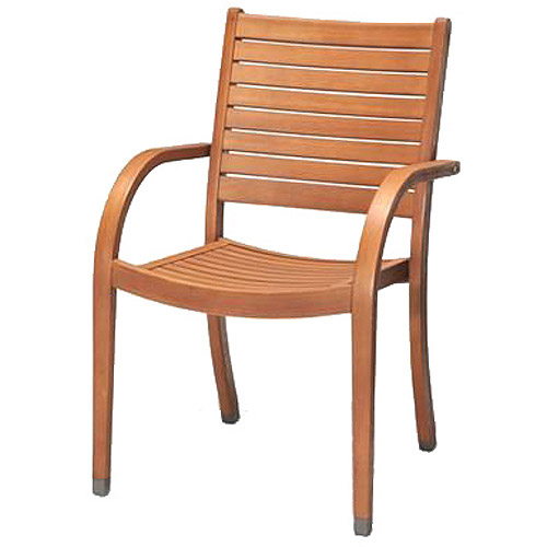 Amazonia Carolina Eucalyptus Wood Outdoor Chairs, Set of 4