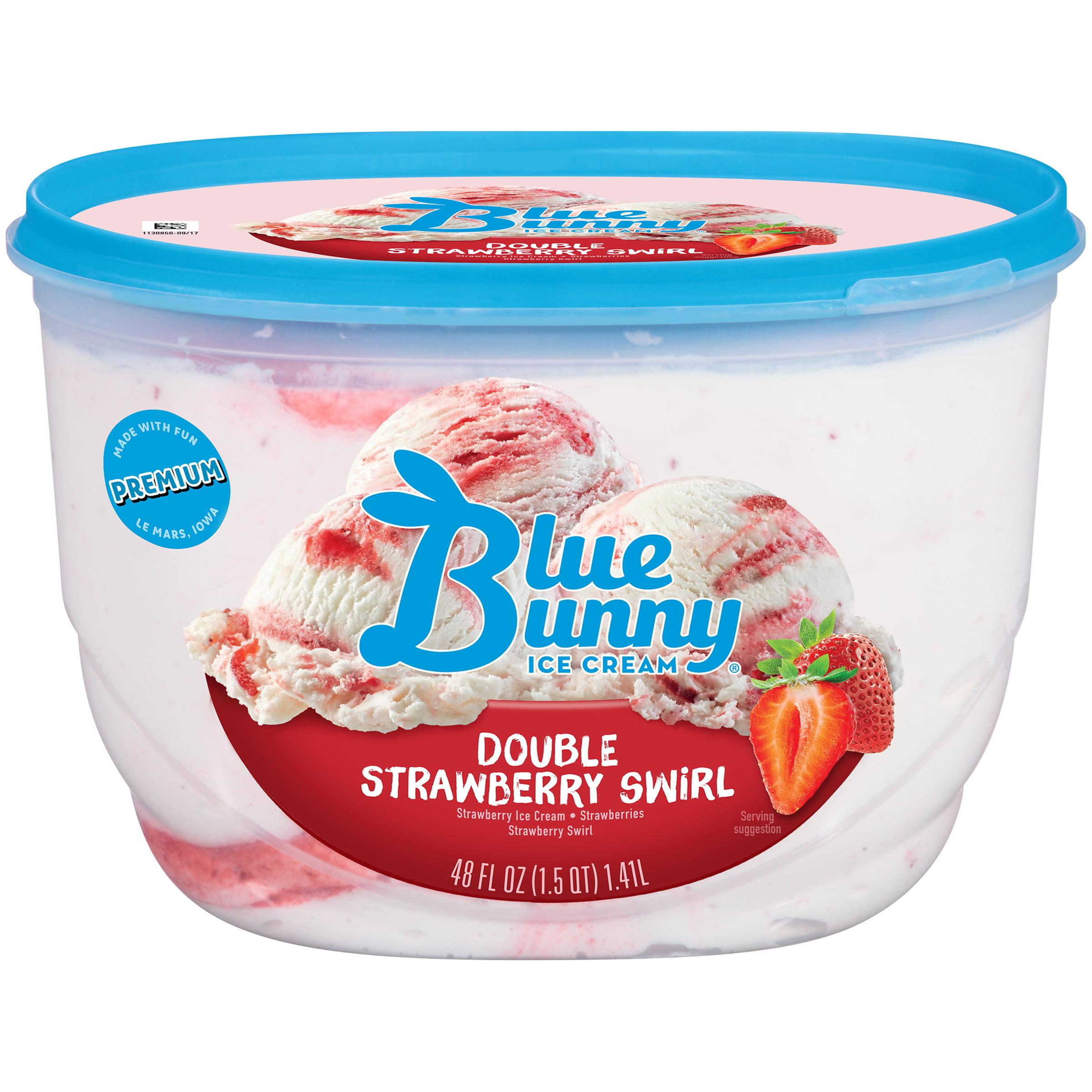 Blue Bunny Double Strawberry Ice Cream, 48 fl oz - Walmart.com