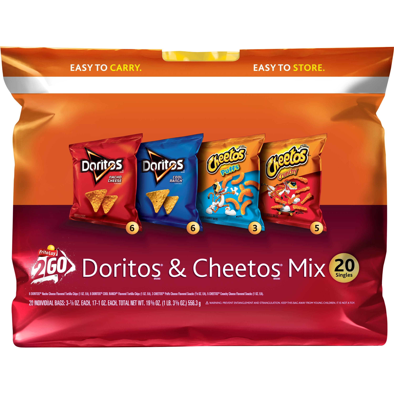 Frito-Lay 2Go Doritos® & Cheetos® Mix Variety Pack, 0.75 Oz - 1 Oz, 20 Ct