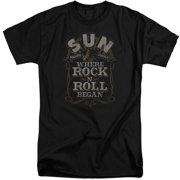 Sun Records Where Rock Began Mens Big and Tall Shirt