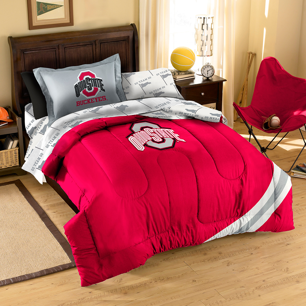 Ohio State Buckeyes NCAA Bed in a Bag (Contrast Series)(Twin)
