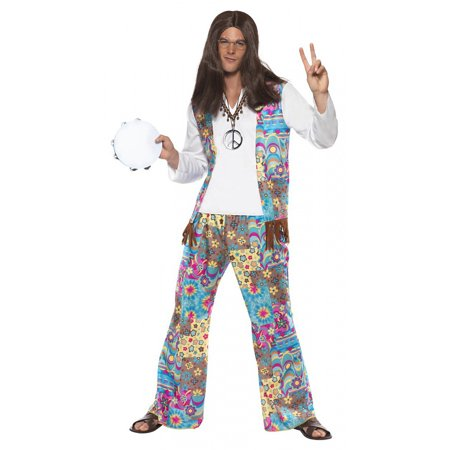 Groovy Hippie Adult Costume - Medium - Hippie Man