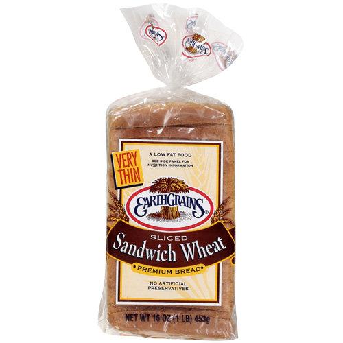 Earthgrains Very Thin Sandwich Wheat Bread, 16 oz
