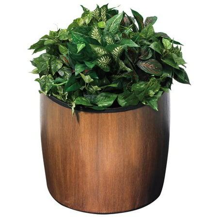 Commercial Zone Garden Series Elmwood Plastic Pot Planter ()