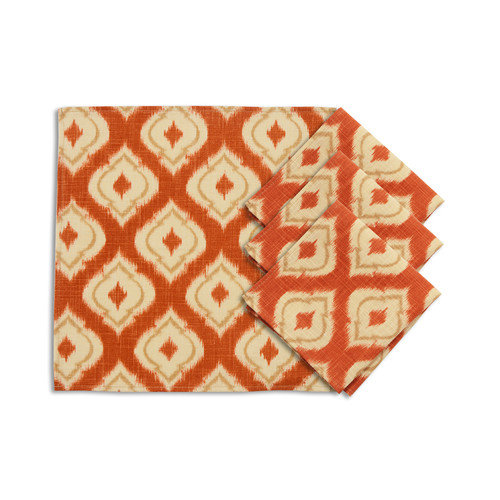 Brite Ideas Living Macie Pumpkin Napkin (Set of 4)