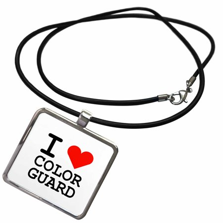 3dRose I HEART COLOR GUARD - Necklace with Pendant (ncl_237312_1) ()