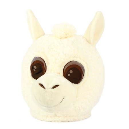 Maskimals Oversized Plush Halloween Mask - Llama