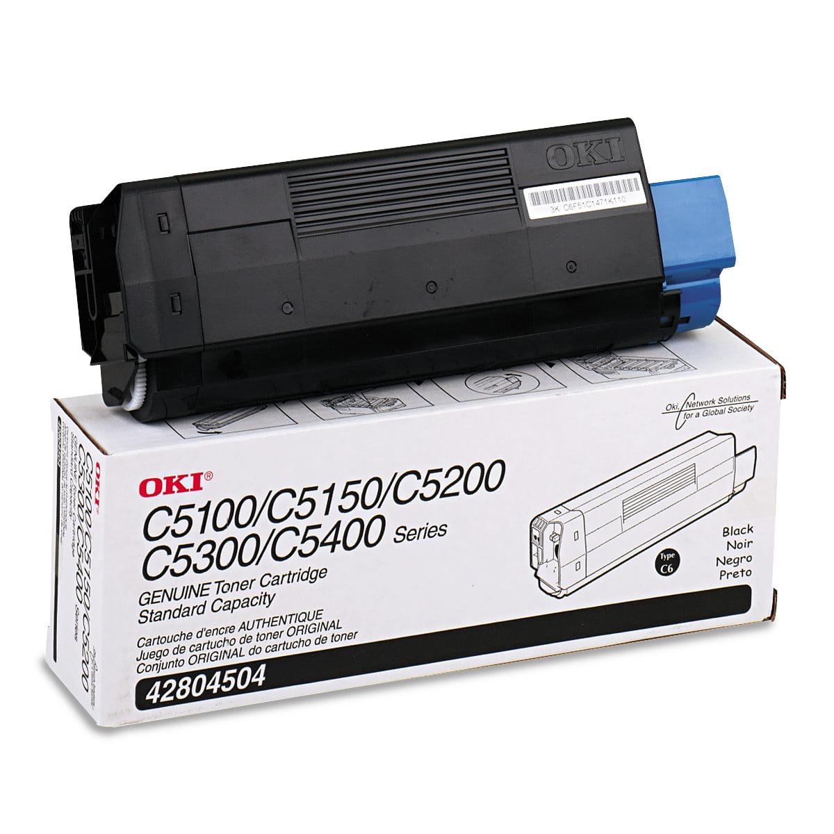 Oki 42804504 Toner (Type C6), 3000 Page-Yield, Black