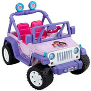 Fisher-Price Power Wheels Dora and Friends Jeep Wrangler 12-Volt Battery-Powered Ride-On