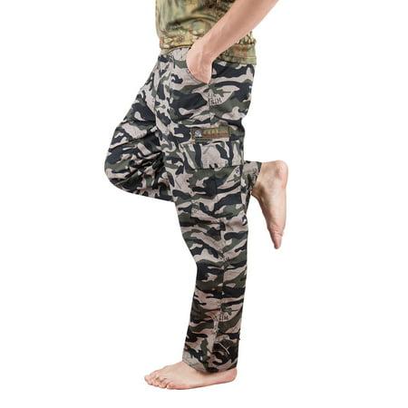 Mens Fatigue Pants - LELINTA Men's Cargo Pants Military Style Digital Camo BDU Pants Military Fatigues, Mens Sizes Camo Sweatpants