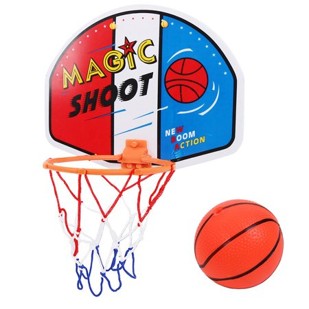 Inflatable Basketball Hoop (SUPERHOMUSE Plastic Basketball Hoop Toy Mini Inflatable Ball Pump Backboard Rim Children Kids Wall)