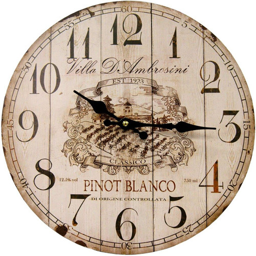 HDC International 13'' Pinot Blanco Round Wall Clock