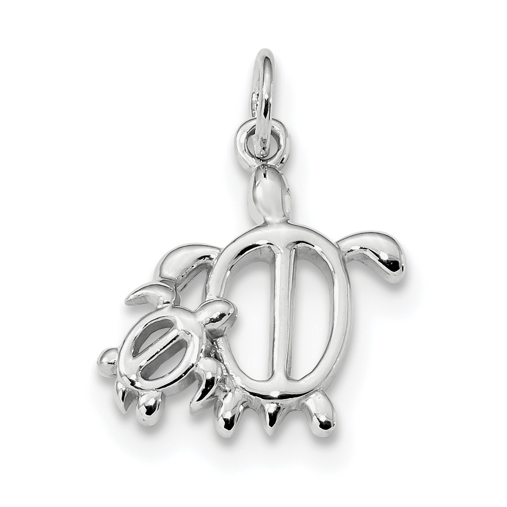 925 Sterling Silver Turtles Pendant Charm Necklace Sea Life Turtle Fine Jewelry Gifts For Women For Her - image 4 de 4